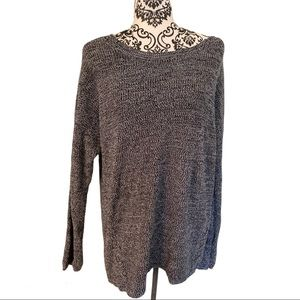 a.n.a criss cross lace up side sweater